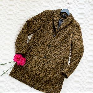 Ashley by 26 International Longline Leopard Coat